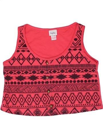 T-shirt sans manches fille KYLIE rouge 10 ans été #1261464_1