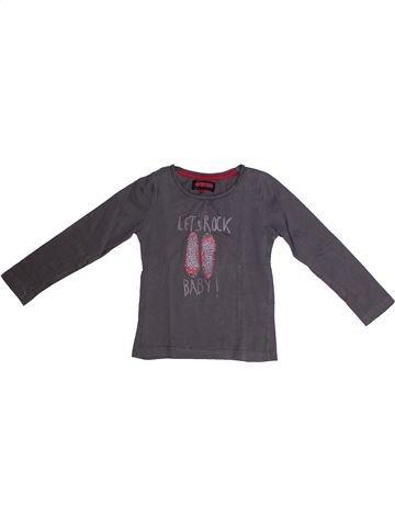T-shirt manches longues fille KID'S GRAFFITI gris 5 ans hiver #1262140_1
