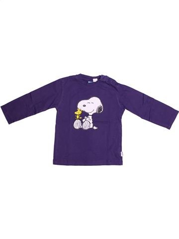 T-shirt manches longues fille SNOOPY violet 3 ans hiver #1262220_1