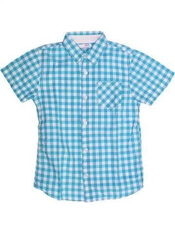 Chemise manches courtes garçon LH BY LA HALLE bleu 8 ans été #1262783_1
