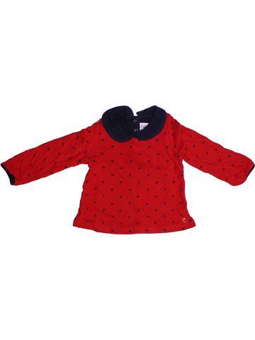 T-shirt manches longues fille PETIT BATEAU rouge 2 ans hiver #1262951_1