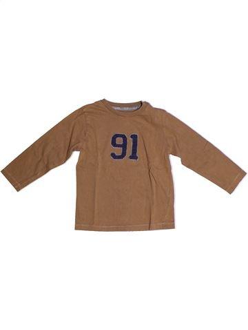 T-shirt manches longues garçon BOUT'CHOU marron 3 ans hiver #1263899_1