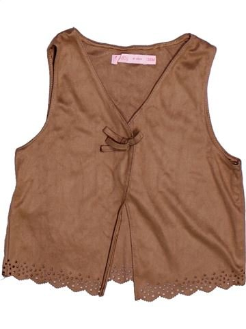 Chaleco niña GEMO marrón 3 años invierno #1264722_1