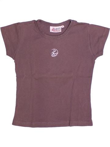 T-shirt manches courtes fille ADISHATZ violet 8 ans été #1264819_1