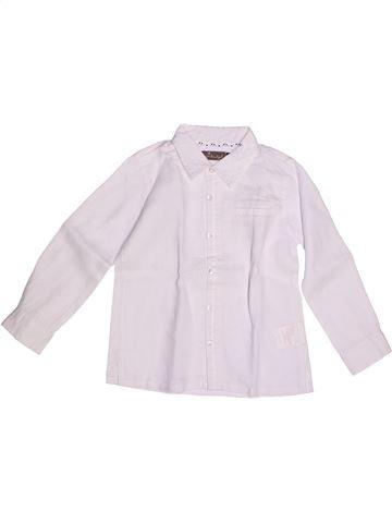 Chemise manches longues garçon JEAN BOURGET blanc 3 ans été #1266232_1