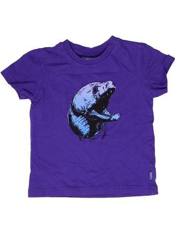 T-shirt manches courtes garçon MEXX violet 4 ans été #1266507_1