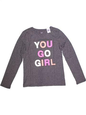 T-shirt manches longues fille GAP violet 12 ans hiver #1266726_1