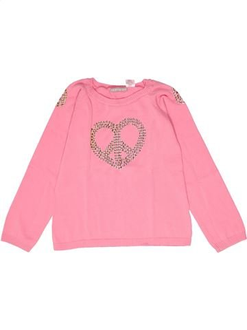 Pull fille LA REDOUTE CRÉATION rose 10 ans hiver #1267115_1