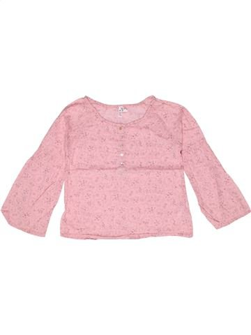 Blouse manches longues fille LISA ROSE rose 8 ans hiver #1267342_1