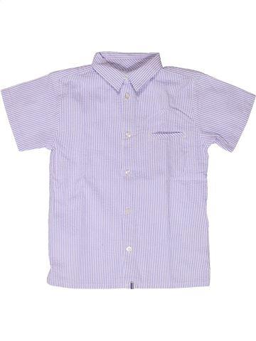 Chemise manches courtes garçon JACADI violet 6 ans été #1267506_1