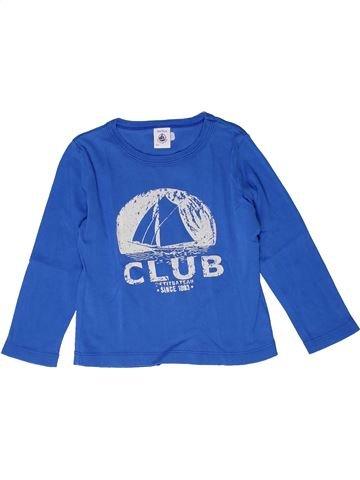 Camiseta de manga larga niño PETIT BATEAU azul 3 años invierno #1267670_1