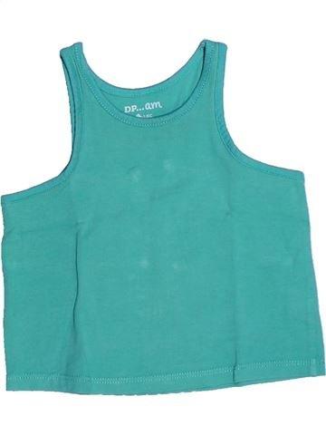 T-shirt sans manches fille DPAM vert 3 ans été #1267947_1
