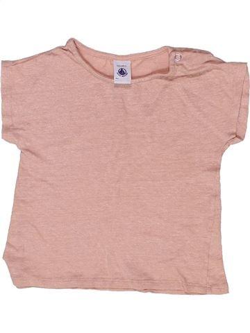 T-shirt manches courtes fille PETIT BATEAU rose 5 ans été #1268027_1