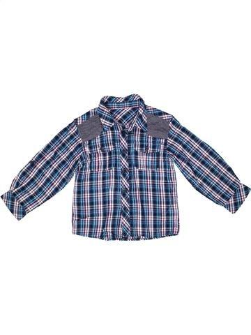 Chemise manches longues garçon MATALAN bleu 4 ans hiver #1268171_1