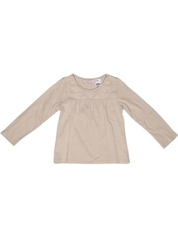 T-shirt manches longues fille LA REDOUTE CRÉATION blanc 4 ans hiver #1268181_1