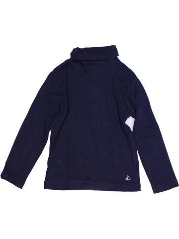 T-shirt col roulé garçon PETIT BATEAU bleu 4 ans hiver #1268287_1