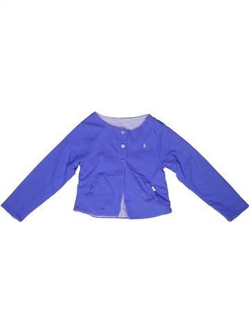 Gilet fille PETIT BATEAU bleu 3 ans hiver #1268310_1