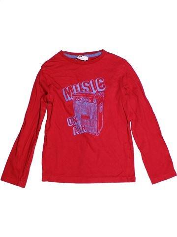 T-shirt manches longues garçon CYRILLUS rouge 8 ans hiver #1268404_1