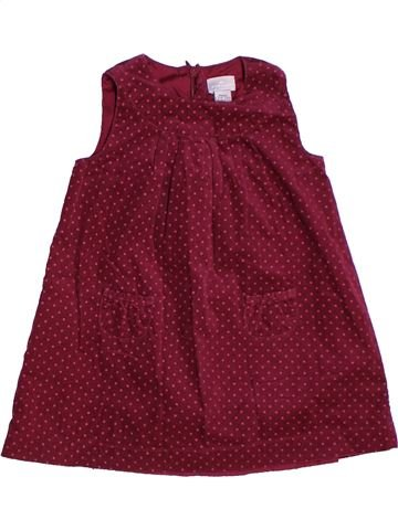 Vestido niña CYRILLUS rojo 2 años invierno #1268600_1