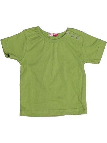 T-shirt manches courtes garçon DPAM vert 6 mois été #1268790_1