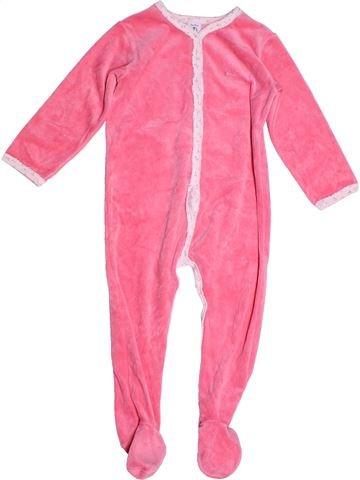 Pijama de 1 pieza niña PETIT BATEAU rosa 3 años invierno #1268851_1