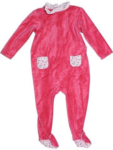 Pyjama 1 pièce fille CYRILLUS rose 2 ans hiver #1268966_1