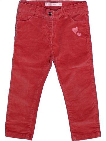 Pantalón niña GEMO rojo 2 años invierno #1269097_1