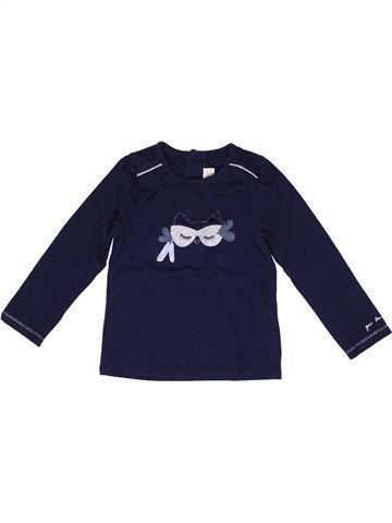 T-shirt manches longues fille JEAN BOURGET bleu 2 ans hiver #1269281_1