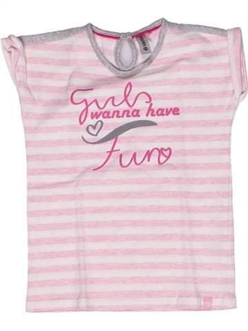 T-shirt manches courtes fille NOPPIES rose 3 ans été #1269338_1