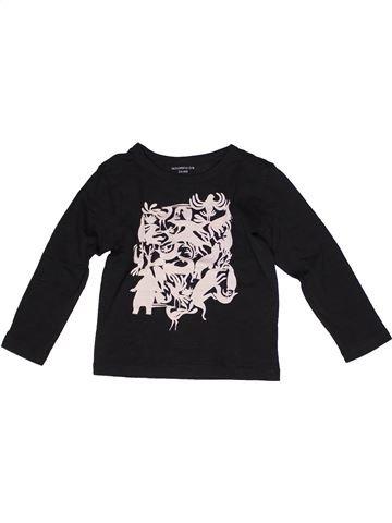 T-shirt manches longues garçon MONOPRIX noir 4 ans hiver #1269433_1