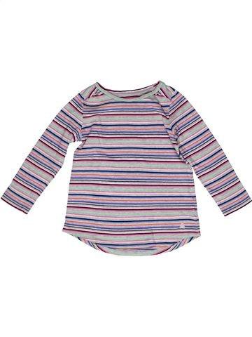T-shirt manches longues fille GAP gris 5 ans hiver #1269692_1
