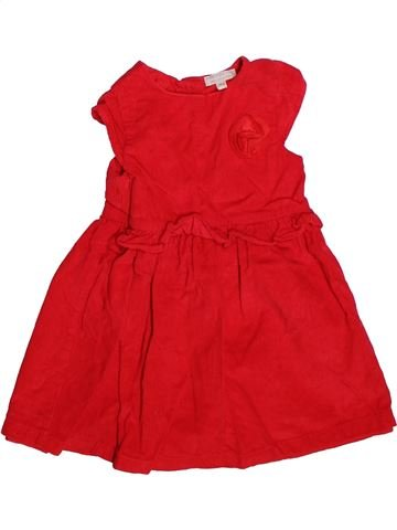 Robe fille GRAIN DE BLÉ rouge 2 ans hiver #1269829_1