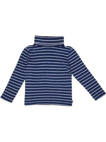 T-shirt col roulé garçon OKAIDI bleu 5 ans hiver #1270079_1