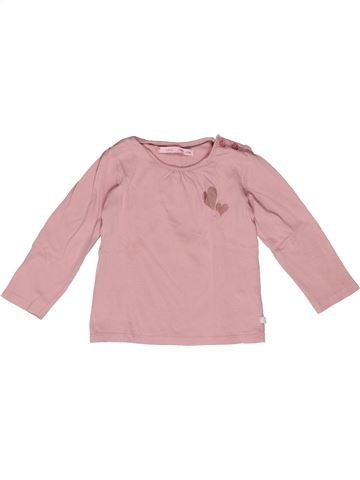 T-shirt manches longues fille GEMO rose 2 ans hiver #1270173_1