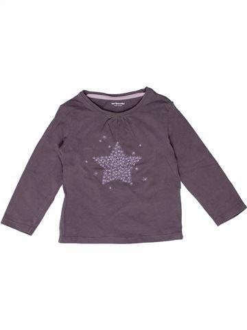 T-shirt manches longues fille VERTBAUDET gris 2 ans hiver #1270194_1