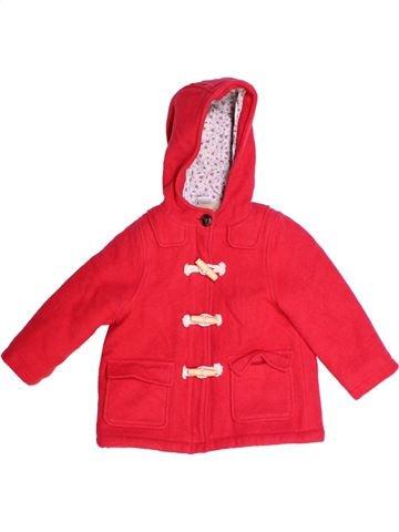 Manteau fille PETIT BATEAU rouge 3 ans hiver #1270359_1