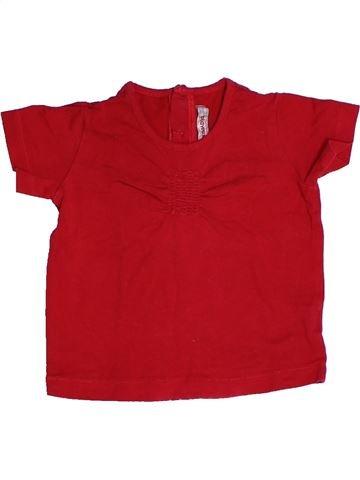 Camiseta de manga corta niña CLAYEUX rojo 2 años verano #1270404_1