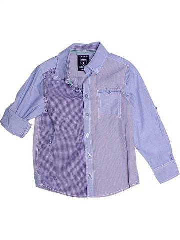 Chemise manches longues garçon OKAIDI violet 6 ans hiver #1270471_1