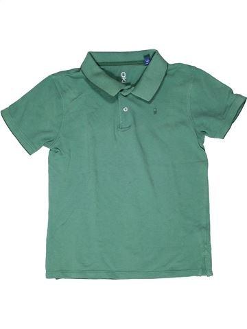 Polo de manga corta niño OKAIDI verde 12 años verano #1270520_1