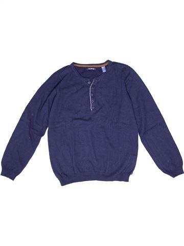 Pull garçon OKAIDI bleu 12 ans hiver #1270522_1