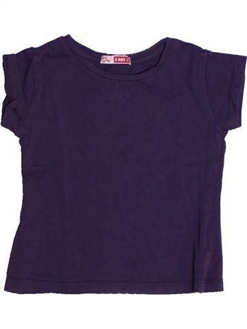T-shirt manches courtes fille DPAM bleu 3 ans été #1270622_1