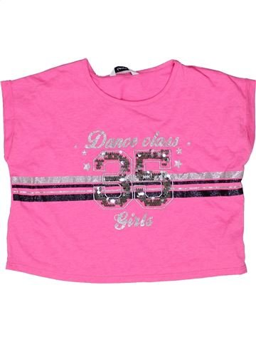 T-shirt manches courtes fille GEORGE rose 8 ans été #1270922_1