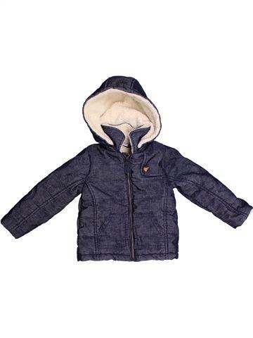 Manteau garçon CADET ROUSSELLE bleu 12 mois hiver #1270940_1