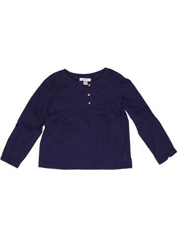 Blusa de manga larga niña OKAIDI azul 3 años invierno #1270970_1