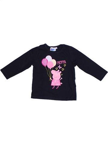 T-shirt manches longues fille PEPPA PIG noir 2 ans hiver #1271026_1