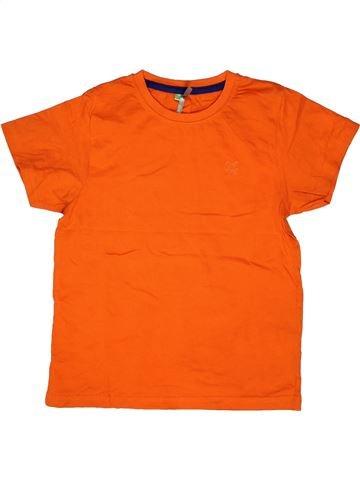 T-shirt manches courtes garçon ORCHESTRA orange 8 ans été #1271033_1