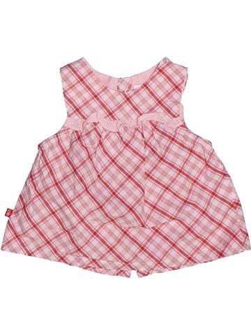 Blouse manches courtes fille OKAIDI rose 3 mois été #1271163_1