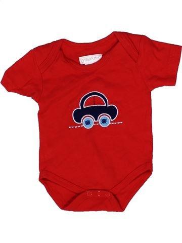 T-shirt manches courtes garçon PITTER PATTER rouge 3 mois été #1271918_1