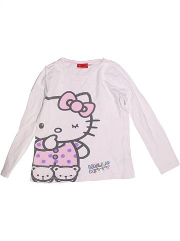 T-shirt manches longues fille HELLO KITTY blanc 8 ans hiver #1272049_1