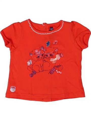 T-shirt manches courtes fille SERGENT MAJOR rouge 6 mois été #1272081_1